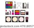 一个简单的化妆插图生动系列 47618057