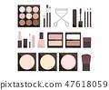 一个简单的化妆插图裸体系列 47618059