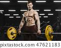 barbell, bodybuilder, gym 47621183