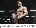 barbell, bodybuilder, gym 47621207