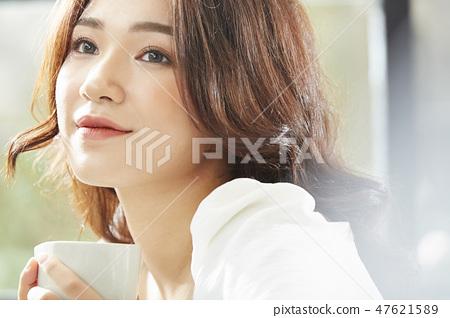 여성 라이프 스타일 휴식 47621589