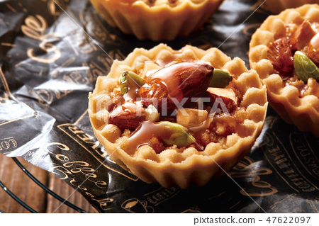 堅果餡餅圖像 47622097