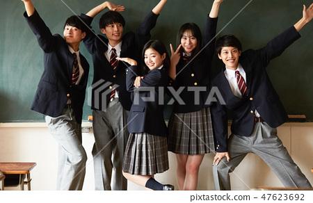 High school student school life time off 47623692