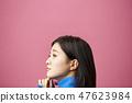 思维女人的肖像 47623984