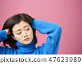 思维女人的肖像 47623989