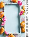 Mini fresh croissants bun 47625508