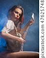 guitar, woman, female 47625748