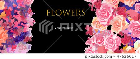 추상 장미 꽃과 작약 꽃 47626017