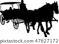 vintage carriage silhouette 47627172