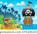 Image with pirate vessel theme 3 47628626