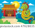 dragon, Chinese, building 47628635
