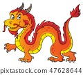 dragon, Chinese, vector 47628644