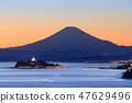 วิวพระอาทิตย์ตกของโชนันเอะชิมะ _ ฟูจิ 47629496