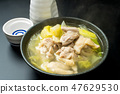 Cooking chicken and Chinese cabbage 47629530