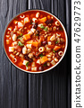Traditional fagioli soup with vegetables 47629773