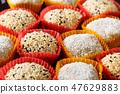 colorful mochi dessert ice cream 47629883