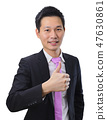 Portrait handsome asian business man with thumb's  47630861