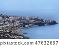 Aerial view  at Funchal city and beach, Madeira 47632697