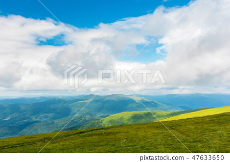 landscape in mountains. hills and meadows 47633650
