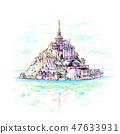 Mont Saint-Michel, Brittany, France 47633931