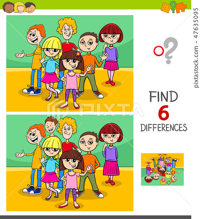 find differences game with kids or teens 47635095