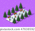 Christmas city isometric 47636592