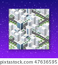 Christmas city isometric 47636595
