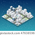 Christmas city isometric 47636596
