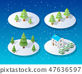 Christmas city isometric 47636597