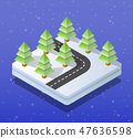 Christmas city isometric 47636598