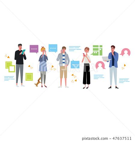 Smartphone smartphone mobile phone communication illustration 47637511