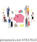 存钱罐和人财政图象资产管理的例证 47637616