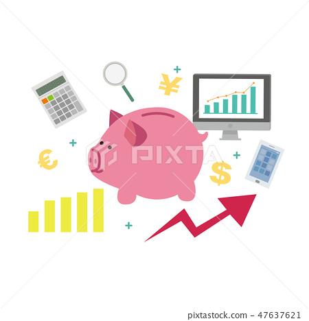 豬存錢罐例證挽救金錢錢零用錢搶奪 47637621