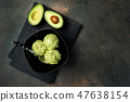 Avocado vegan ice cream on dark background 47638154