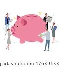 豬存錢罐例證人人群 47639153