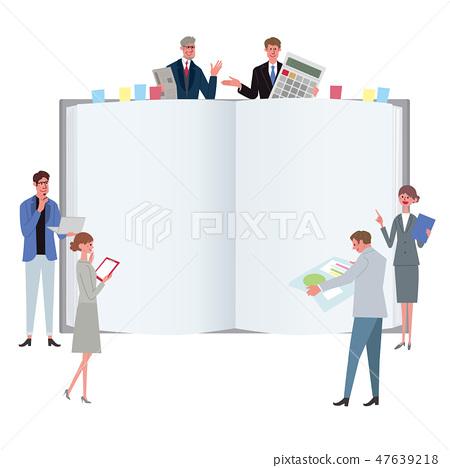 비즈니스 컨셉 일러스트 팀워크 회의 전문가 47639218