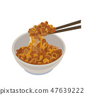 Natto illustration 47639222