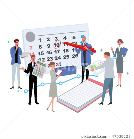 Business Concept Illustration Schedule Conference Professional 47639225