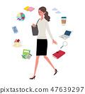 일하는 여성 일러스트 비즈니스 아이콘 47639297