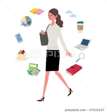 職業婦女例證企業象 47639297