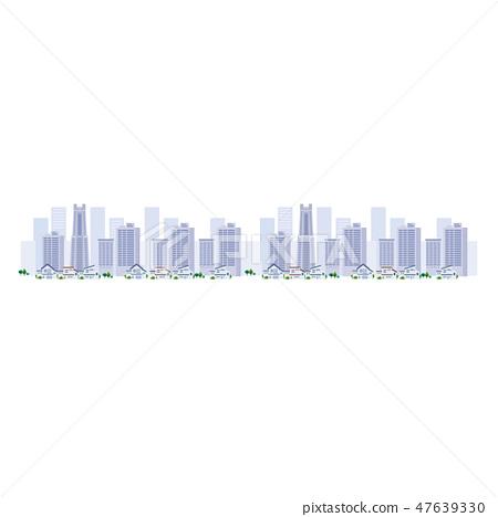 오피스 빌딩 거리 도시 일러스트 47639330