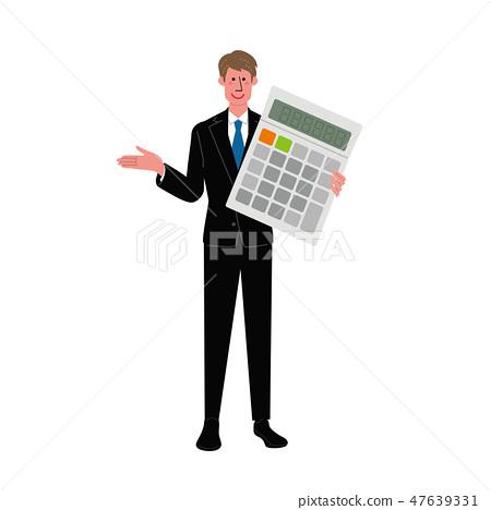 商人計算器例證 47639331