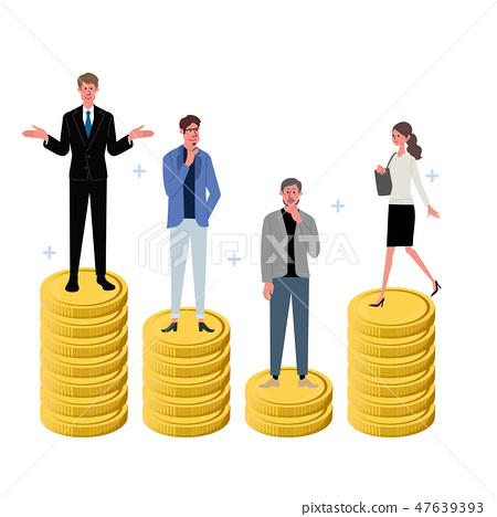 企業概念硬幣和人例證 47639393