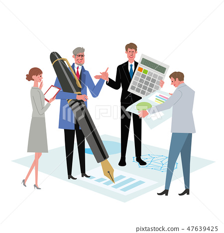 Business Concept Illustration Teamwork Conference Professional 47639425