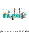 Family illustration character concept 47640956