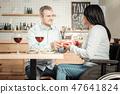 meeting, restaurant, couple 47641824