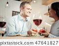 wine, restaurant, couple 47641827