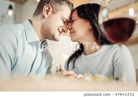 Affectionate woman and man spending time together 47641832