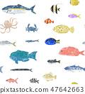 鱼无缝白色 47642663