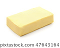 Block of natural butter 47643164